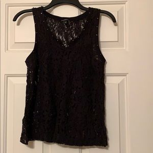 Express black lace top
